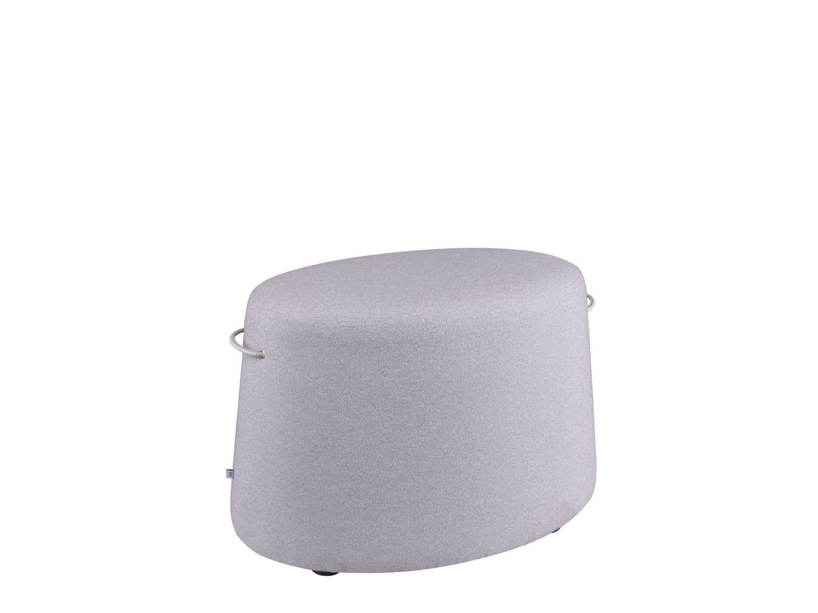 NAP Pouf in fabric or leather with handles