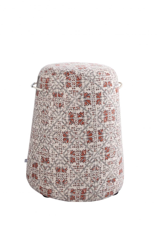 PUFF pufa duża w tkaninie lub skórze
